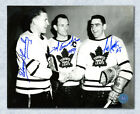 Harry Lumley, Ted Kennedy & Sid Smith Toronto Maple Leafs Autographed 8x10 Photo