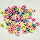 100Pcs Party DIY Alphabet Decoration Wooden Letters Home Numbers Multi coloured