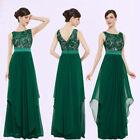 US Women Formal Long Lace Dress Evening Party Cocktail Bridesmaid Wedding 08217