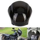 Headlight Quarter Fairing Smoke Windshield For Sportster XL883 1200 Dyna Black