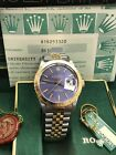 Rolex Datejust Thunderbird 16253 Blue Dial 18K Yellow Gold & Stainless Steel