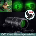 Night Vision Super High Power 40x60 Monocular Telescope Multi coated OPTICS BAK4