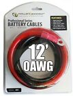 POWERBRIGHT 0AWG12 INVERTER CABLES 12 FT OFHC POWER CABLE HIGH AMPERAGE NEW