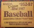 RARE FIND 1987 Topps Tiffany Traded Sealed Set Of 6 individ. sets. $20 to INSURE