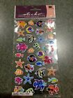 NEW Scrapbooking Crafts Stickers Sticko Puffy Fish Colorful Tropical Star 34 pcs