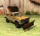 1975 Chevy K10 Rusty Weathered Barn Find 4x4 1/64 Diecast Custom Snow Plow Truck