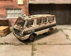 1964 Dodge A100 Police Van Rusty Weathered Barn Find 1/64 Diecast Custom M2 Rust