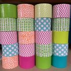 Lot of 20 Rolls of Patterned Printed Scotch Brand Duct Tape Mini Rolls