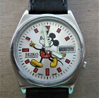 Seiko Automatic Watch Disney Mickey Mouse Lume Hands Day/Date