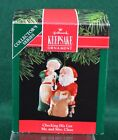 1991 Hallmark CHECKING HIS LIST Christmas Ornament Mr. and Mrs. Claus Series #6