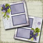 Lovely Lavender 2 Premade Scrapbook Pages EZ Layout 4200