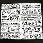 12x Bullet Journal Stencil Set Planner DIY Drawing Template Diary Craft 2057cm