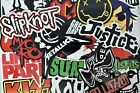 100 PCS Band Rock and Roll Music Stickers for Guitar Hydro Flask Laptop Suitcase