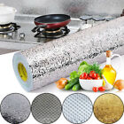 Stove Cupboard Oil proof Aluminum Foil Wallpaper Kitchen Stickers Self adhesive
