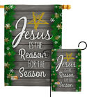 Jesus is the Reason for Season Winter Nativity Christmas Garden Yard House Flag