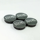 4pcs Oz Racing 56mm Wheel Center Caps Covers For Audi Bmw Vw Skoda Fiat Black