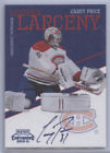 CAREY PRICE 2010-11 PLAYOFF CONTENDERS LEATHER LARCENY AUTO 50 CANADIENS