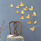 12 Pcs Hollow Beautiful 3D Butterfly Wall Stickers Art Decals Home Room Decor US