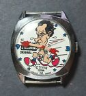 Vintage wind-up Richard Nixon Streaking Political Character Watch by Trying Time