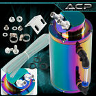 Universal 350ML Oil Catch Can Reservoir Tank Neo Chrome Hose Hardware Euro Jdm