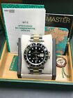 Rolex GMT Master II 16713 Black Dial 18K Yellow Gold & Steel Box & Papers