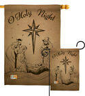 Holy Night Winter Nativity Garden Yard Banner House Flag