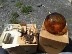 Vintage Amber Glass Grapes Hanging Light New Old Stock
