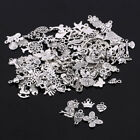 Wholesale 100pcs Bulk Mixed Silver Charms Pendants for DIY Jewelry Making Craft