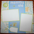 baby boy 12 months old premade 12 x 12 scrapbook layout page 3D handmade