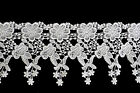 Lily 45 White Venise Vintage Victorian Floral Flower Lace Trim By Yardage