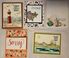 Lot of 5 Assorted Thinking of You Get Well+ cards made w Stampin Up supplies