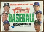 2013 Topps Heritage High Number Factory Sealed Set w Autograph