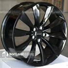 BRAND NEW GLOSS BLACK CP12 21 x 85 WHEELS FOR TESLA MODEL S OEM TURBINE STYLE
