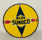 Sunoco Gas Oil Vintage Style Porcelain Signs Gas Pump Plate Man Cave Station
