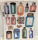 BOTTLES  JARS Mason Buttons Dogs Unmounted Rubber Stamps Set