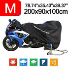 M Motorcycle Cover Waterproof Scooter Dirt Moped Bike Dust Protection Black