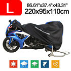 L Motorcycle Cover 190T Waterproof Fit For 150CC Scooter Street Sport Black