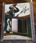 2017 IMMACULATE MICHAEL VICK SP #'d 18 49 PATCH ON CARD AUTOGRAPH RARE EAGLES