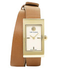 NEW Tory Burch Gold Buddy Signature Trb2007 Double Wrap Watch $395 Retail