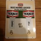Texaco Restroom Sign With Key Hangers NOS