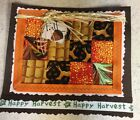 Happy Harvest Quilted Handmade Fall Autumn Greeting Card