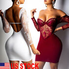 Sexy Womens Bandage Bodycon Lace Evening Party Cocktail Club Short Mini Dress US