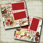Vintage Strawberry Jam Canning Premade Scrapbook Pages EZ Layout 4270
