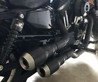 Harley Davidson Vance  Hines Hi Output Grenades 2 into 2 Full Exhaust BLACK