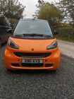 Smart car fortwo night orange convertible low mileage