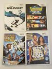 Lot of 4 Wii Games Epic Mikey Punch Time Explosion XL Clone Wars Biggest Loser