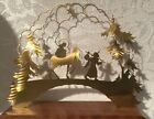 Vintage West Germany Silhouette Figures Christmas Nativity Wood Mary Joseph 4
