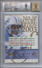 BARRY SANDERS 2003 SP SIGNATURE EDITION RED INK AUTO 100 BGS 9 9