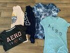 Aeropostale Lot of 5 Long and Short Sleeve Soft T Shirts  All Large Juniors