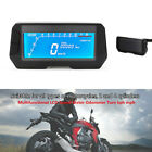 12V Motorcycle Modification Instrument Blue LCD Speed Meter Odometer 2 4Cylinder